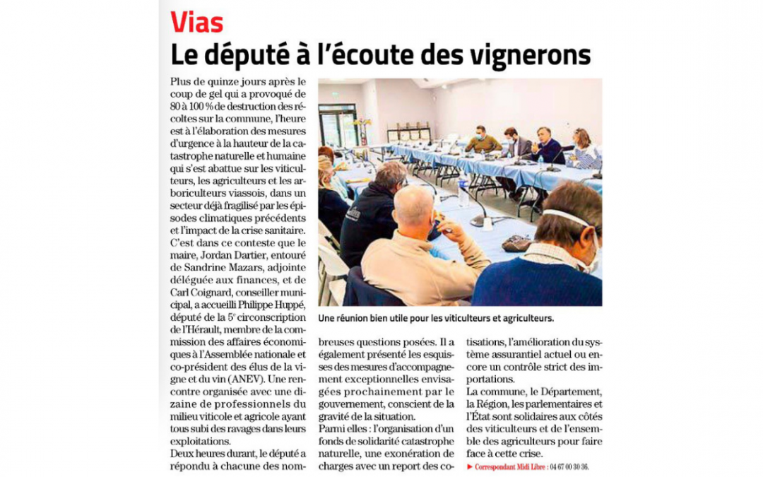 Article Midi Libre du 24/04/2021